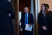 United States Senator Pat Roberts (Republican of Kansas) departs Republican Senate luncheons on Capitol Hill in Washington D.C., U.S., on Tuesday, November 5, 2019.<br />  <br /> Credit: Stefani Reynolds / CNP /MediaPunch