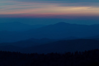 View just after sunset from Clingman's Dome, Great Smoky Mountains National Park