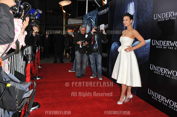"""Rhona Mitra at the world premiere of her new movie """"Underworld: Rise of the Lycans"""" at the Arclight Theatre, Hollywood..January 22, 2009  Los Angeles, CA.Picture: Paul Smith / Featureflash"""
