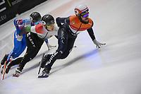 SPEEDSKATING: DORDRECHT: 07-03-2021, ISU World Short Track Speedskating Championships, Final A 5000m Relay, Sjinkie Knegt (NED), ©photo Martin de Jong