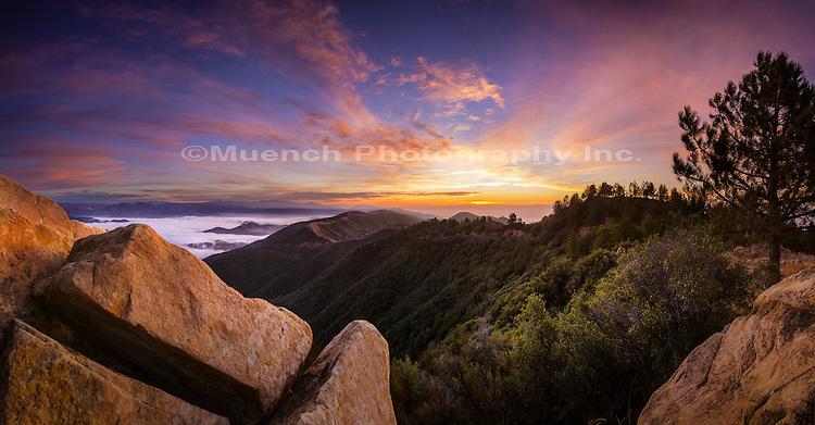 La Cumbre Peak, Santa Ynez Mountains, Los Padres National Forest, California