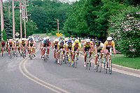 The Corestates NJNB Classic Bicycle Race in Freehold, New Jersey. competitive sports, racing, biking, bikers, roadways. Freehold New Jersey.