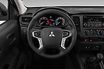 Car pictures of steering wheel view of a 2020 Mitsubishi L200 Invite 4 Door Pick-up Steering Wheel