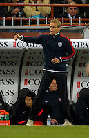 Coach Juergen Klinsmann  (USA), during the friendly match Italy against USA at the Stadium Luigi Ferraris at Genoa Italy on february the 29th, 2012.