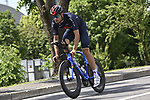 World Champion Filippo Ganna (ITA) Ineos Grenadiers recons the course before Stage 21 of the 2021 Giro d'Italia, an individual time trial running 30.3km from Senago to Milan, Italy. 30th May 2021.  <br /> Picture: LaPresse/Fabio Ferrari   Cyclefile<br /> <br /> All photos usage must carry mandatory copyright credit (© Cyclefile   LaPresse/Fabio Ferrari)