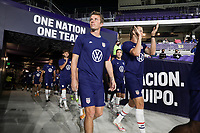 ORLANDO CITY, FL - JANUARY 31: Jackson Yueill #6 of the United States exits the tunnel before a game between Trinidad and Tobago and USMNT at Exploria stadium on January 31, 2021 in Orlando City, Florida.