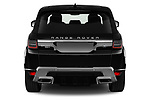 Straight rear view of 2020 Land Rover Range-Rover-Sport HSE-PHEV 5 Door SUV Rear View  stock images