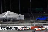 #18: Harrison Burton, Joe Gibbs Racing, Toyota Supra Dex Imaging and #1: Michael Annett, JR Motorsports, Chevrolet Camaro Chevrolet Pilot Flying J