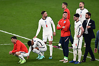 11th July 2021; Wembley Stadium, London, England; 2020 European Football Championships Final England versus Italy; A dejected England team as they lose in the penalty shootout to Italy