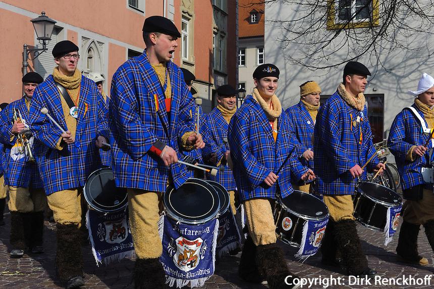 Straßenfasnacht, schwäbisch-alemannische Fasnacht in Konstanz, Baden-Württemberg, Deutschland
