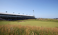 18th July 2021; Royal St Georges Golf Club, Sandwich, Kent, England; The Open Championship Golf, Day Four; a view of the hospitality pavilion at the par three 16th hole