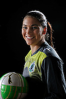 Saint Louis Athletica goalkeeper Hope Solo during a Women's Professional Soccer photo shoot in Brooklyn, New York on February 17, 2010.