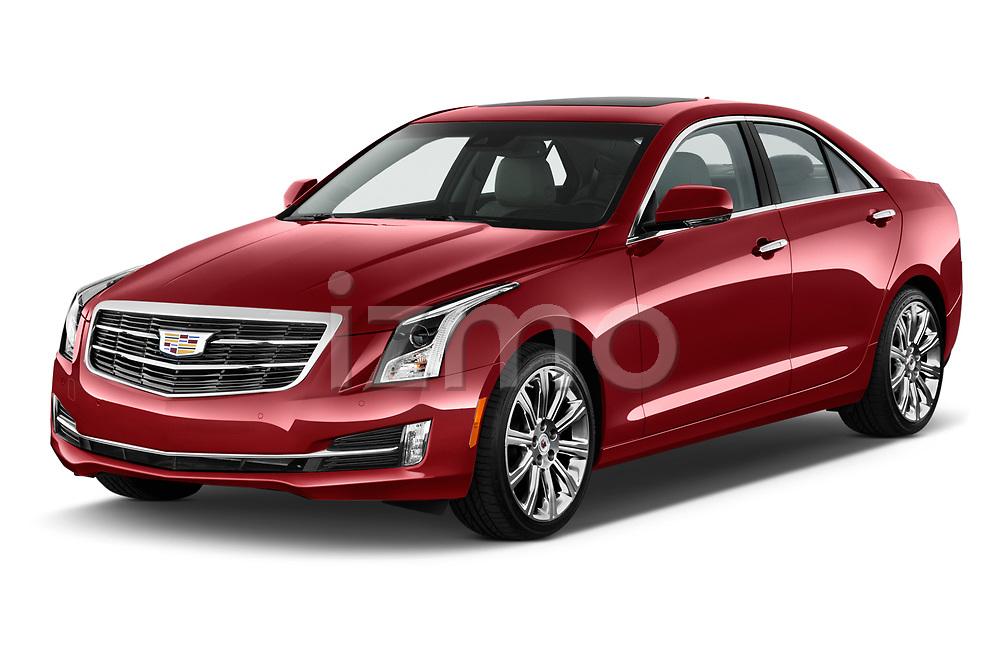 2015 Cadillac ATS 2.5L Standard RWD 4 Door Sedan Angular Front stock photos of front three quarter view