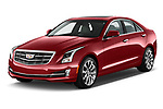 2015 Cadillac ATS 2.5L Standard RWD 4 Door Sedan Angular Front stock photos of front three quarter view