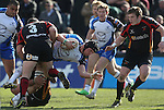 Connacht flanker Eoghan Masterson is held up by Dragons front row pair Owen Evans and Bruce Douglas.<br /> RaboPro 12<br /> Newport Gwent Dragons v Connacht<br /> Rodney Parade<br /> 23.03.14<br /> <br /> ©Steve Pope-SPORTINGWALES