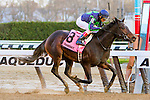 OZONE PARK, NY - NOVEMBER 26, 2016: Mo Town #8  with John Velazquez  aboard. wins the Grade 2 Remsen Stakes for 2-year olds, at Aqueduct Racetrack . (Photo by Sue Kawczynski/Eclipse Sportswire/Getty Images)