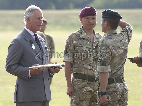 01 July 2015 - London, England - Prince Charles visits the 2nd Battalion the Royal Gurkha Rifles, Shorncliffe, Kent to celebrate 200 years of Gurkha service to the Crown. Photo Credit: Alpha Press/AdMedia