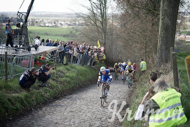 Iljo Keisse (BEL/Etixx-QuickStep) up the Koppenberg<br /> <br /> 100th Ronde van Vlaanderen 2016