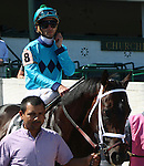 May 31, 2014: Captain Genius in the post parade of the G3 Aristides Stakes, Churchill Downs.  He is owned by Front Row Racing, trained by Brad Cox, and ridden by Leandro Goncalves. Mary M. Meek/ESW/CSM