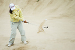 Bo Kyung Kim of South Korea gets out of a bunker at the 4th hole during Round 2 of the World Ladies Championship 2016 on 11 March 2016 at Mission Hills Olazabal Golf Course in Dongguan, China. Photo by Victor Fraile / Power Sport Images