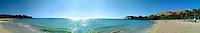 Panoramic view of Manua Kea beach and oceanfront from Mauna Kea Beach Hotel