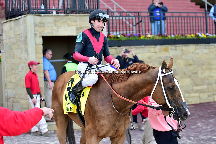 April 18, 2020:  Whitmore (9) with jockey Joseph Talamo aboard during the Count Fleet Sprint Handicap at Oaklawn Racing Casino Resort in Hot Springs, Arkansas on April 18, 2020. Ted McClenning/Eclipse Sportswire/CSM