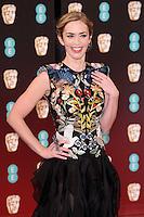 Emily Blunt<br /> at the 2017 BAFTA Film Awards held at The Royal Albert Hall, London.<br /> <br /> <br /> ©Ash Knotek  D3225  12/02/2017