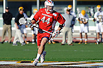 Baltimore, MD - March 3: Attackmen John Snellman #44 of the Fairfield Stags during the Fairfield v UMBC mens lacrosse game at UMBC Stadium on March 3, 2012 in Baltimore, MD.