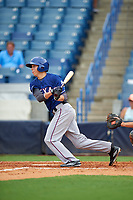 Kobie Taylor (6) of Portsmouth High School in Portsmouth, New Hampshire playing for the Texas Rangers scout team during the East Coast Pro Showcase on July 28, 2015 at George M. Steinbrenner Field in Tampa, Florida.  (Mike Janes/Four Seam Images)