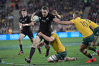 All Blacks' Ben Smith in action during the All Blacks v Wallabies. The Rugby Championship & Bledisloe Cup at Westpac Stadium, Wellington, New Zealand on Saturday 27 August 2016.<br /> Photo by Masanori Udagawa. <br /> www.photowellington.photoshelter.com.
