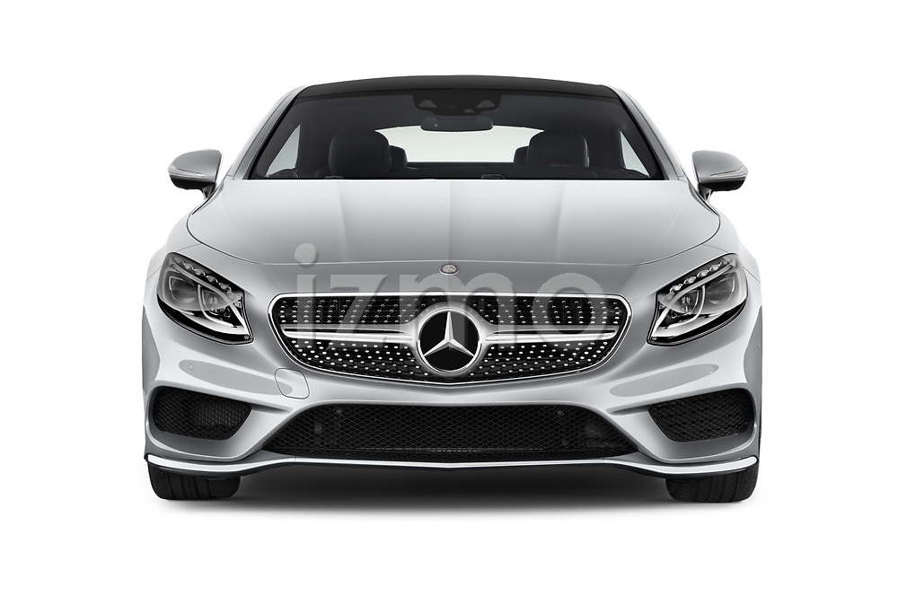 Car photography straight front view of a 2017 Mercedes Benz S-Class - 2 Door Coupe Front View