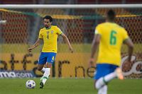 4th June 2021; Beira-Rio Stadium, Porto Alegre, Brazil; Qatar 2022 qualifiers; Brazil versus Ecuador; Marquinhos of Brazil passes in midfield to Alex Sandro