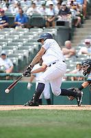 Trenton Thunder catcher Gary Sanchez (35) during game against the Akron RubberDucks at ARM & HAMMER Park on July 14, 2014 in Trenton, NJ.  Akron defeated Trenton 5-2.  (Tomasso DeRosa/Four Seam Images)
