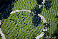 aerial photograph of the National Cemetery San Francisco Presidio California