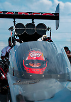 Sep 1, 2019; Clermont, IN, USA; NHRA top fuel driver Billy Torrence during qualifying for the US Nationals at Lucas Oil Raceway. Mandatory Credit: Mark J. Rebilas-USA TODAY Sports
