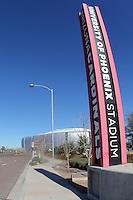 GLENDALE,ARIZONA,U.S.A. 29 ENERO 2013.  General view of the University of Phoenix Stadium preview the game between Mexico vs Denmark. //  Vista General del estadio de la Universidad de Phoenix GERMÁN QUINTANA*