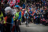 Meron Teshome (ERI/Bike Aid) up Mount Fløyen<br /> <br /> Men Elite Individual Time Trial<br /> <br /> UCI 2017 Road World Championships - Bergen/Norway
