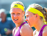 Paris, France, 30 May, 2018, Tennis, French Open, Roland Garros, Womans Doubles : Kiki Bertens (NED) (L) and Johanna Larsson (SWE) celebrate their win<br /> Photo: Henk Koster/tennisimages.com