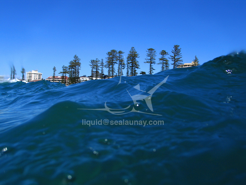water view over Manly Beach.