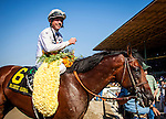 June 28, 2014: Majestic Harbor with Tyler Baze aboard wins the Gold Cup at Santa Anita at Santa Anita Park in Arcadia CA. Alex Evers/ESW/CSM