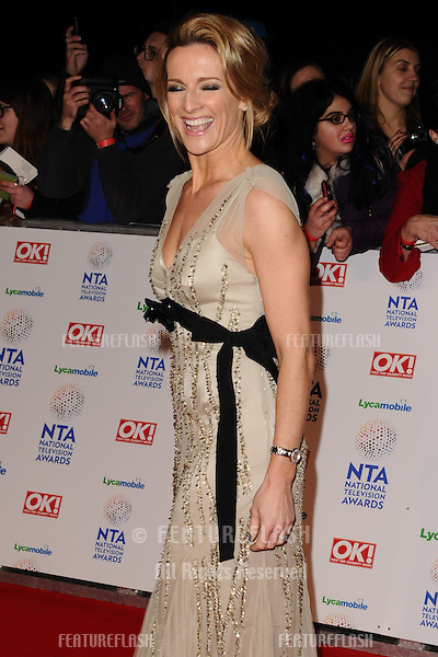 Gaby Logan<br /> arrives for the National TV Awards 2014 at the O2 arena, Greenwich, London.22/01/2014 Picture by: Steve Vas