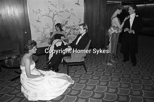 Sloane Rangers at the annual Rose Ball, Grosvenor House Hotel, London. England 1982