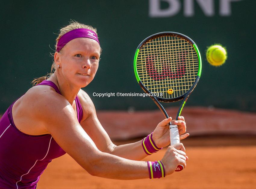 Paris, France, 29 May, 2018, Tennis, French Open, Roland Garros, Kiki Bertens (NED)<br /> Photo: Henk Koster/tennisimages.com
