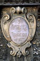 Europe/France/Ile-de-France/77/Seine-et-Marne/Moret-sur-Loing: Enseigne pour le sucre d'orge des religieuses de Moret