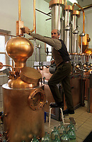 Europe/Autriche/Tyrol : Fritzens Gunter Rochelt dans sa distillerie de schnaps<br /> PHOTO D'ARCHIVES // ARCHIVAL IMAGES<br /> FRANCE 1990