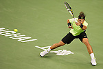 SHANGHAI, CHINA - OCTOBER 14:  Rafael Nadal of Spain returns a ball to Jurgen Melzer of Austria during day four of the 2010 Shanghai Rolex Masters at the Shanghai Qi Zhong Tennis Center on October 14, 2010 in Shanghai, China.  (Photo by Victor Fraile/The Power of Sport Images) *** Local Caption *** Rafael Nadal