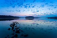 Sunrise above a calm Kattegat (Kattegatt) sea in West Sweden, Sweden - Västsverige, Sverige