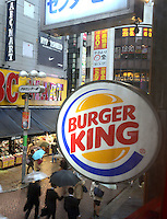Burger King in the Shibuya District of Tokyo, Japan.<br /> April-2014