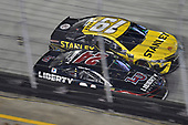 #24: William Byron, Hendrick Motorsports, Chevrolet Camaro Liberty University and #19: Daniel Suarez, Joe Gibbs Racing, Toyota Camry STANLEY