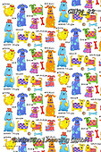 Kate, GIFT WRAPS, GESCHENKPAPIER, PAPEL DE REGALO, paintings+++++Animal crackers dogs,GBKM22,#gp#, EVERYDAY ,sticker,stickers